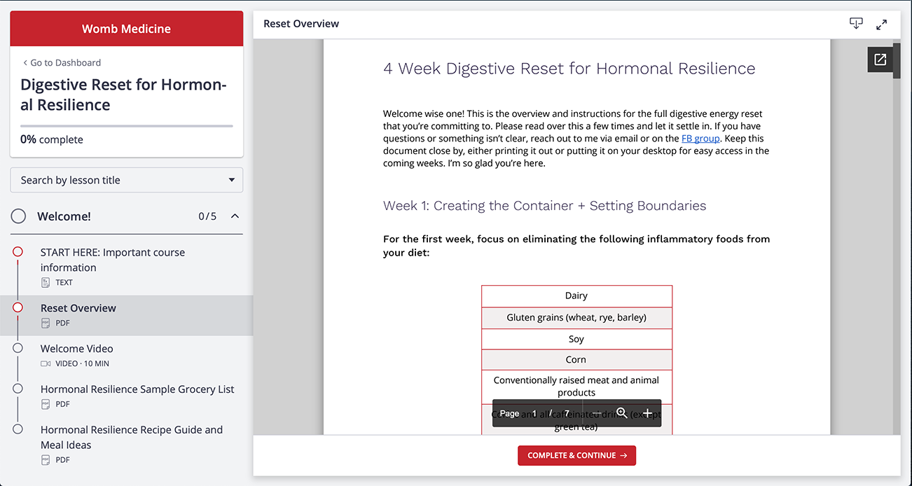 Digestive Reset PDF